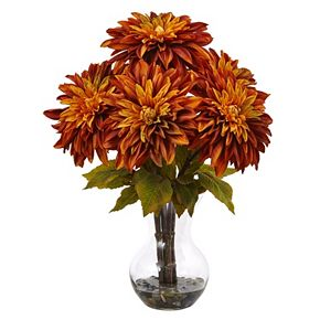 nearly natural Dahlia Silk Artificial Floral Arrangement
