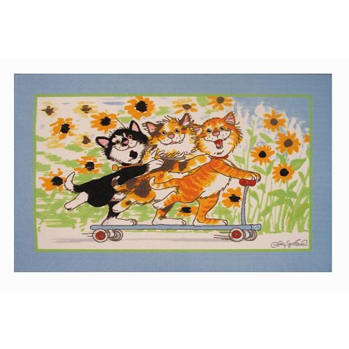 Fun Rugs Wags & Whiskers Duckport Kitties Take A Ride Rug - 3'3'' x 4'10''