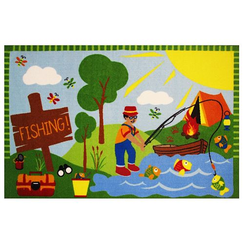 Fun Rugs Fun Time Gone Fishing Rug