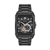 Bulova Men's Ion-Plated Stainless Steel Automatic Skeleton Watch - 98A180