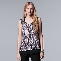 Women's Simply Vera Vera Wang Crinkle Tank Top