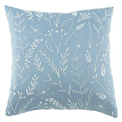 Kathy Davis Tranquility Embroidered Leaf Throw Pillow