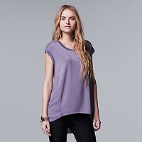Women's Simply Vera Vera Wang High-Low Chiffon Top