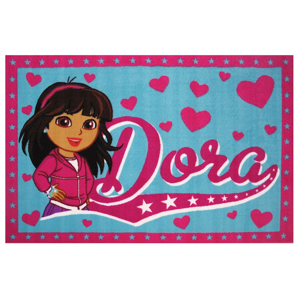 Fun Rugs Dora Framed Heart Rug