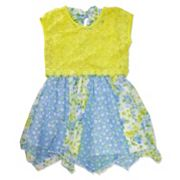 Girls 4-6x Nanette Lace Overlay Printed Dress