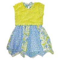 Girls 4-6x Nanette Lace Overlay Printed Dress