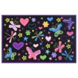 Fun Rugs Fun Time Exotic Nature Butterflies Rug