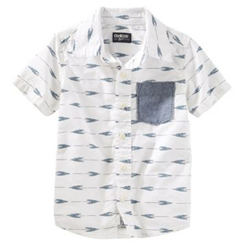 Boys 4-8 OshKosh B'gosh® Arrow Short-Sleeved Poplin Shirt