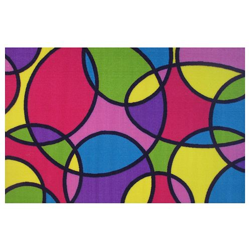 Fun Rugs Fun Time Round & Round Geometric Rug