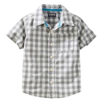 Boys 4-8 OshKosh B'gosh® Woven Short-Sleeved Button-Front Shirt