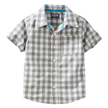 Boys 4-8 OshKosh B'gosh® Woven Short-Sleeved Button-Front Shirt