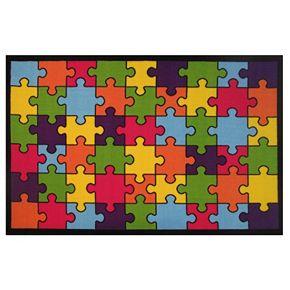 Fun Rugs Fun Time Jigsaw Puzzle Rug
