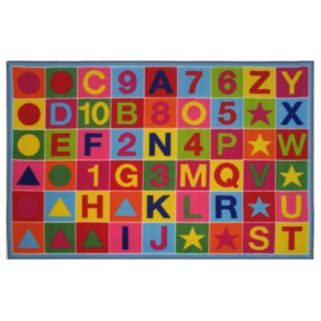 Fun Rugs Fun Time Alphanumeric Fun Rug