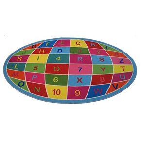 Fun Rugs Fun Time Alphanumeric Globe Rug