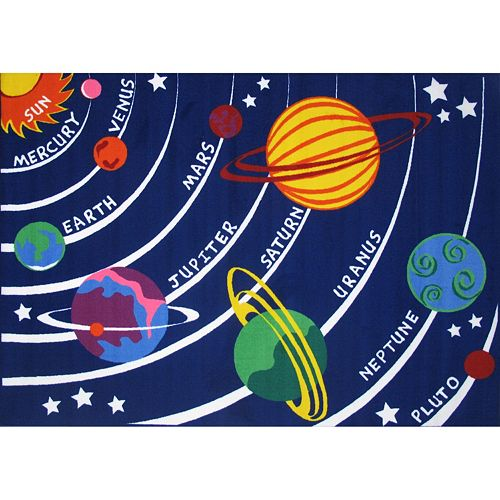 Fun Rugs Fun Time Solar System Rug