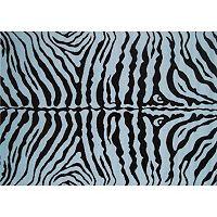 Fun Rugs Fun Time Zebra Skin Print Rug