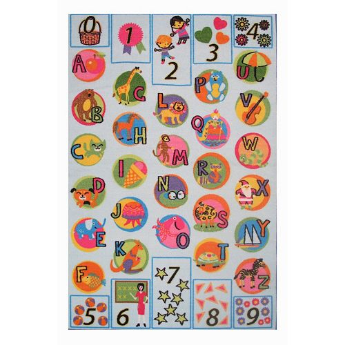 Fun Rugs Fun Time Now I Know My ABCs Rug