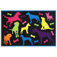 Fun Rugs Fun Time Bow Wow Dog Rug
