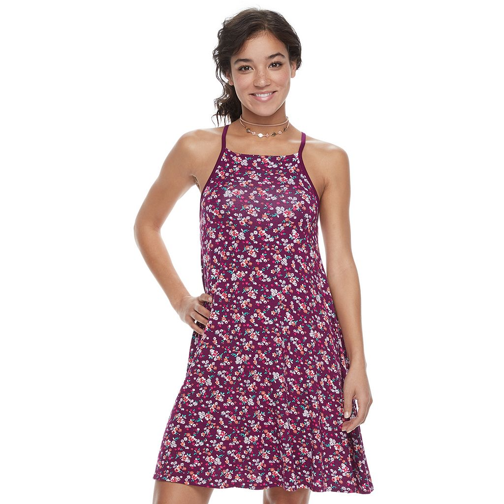 Juniors' SO® Halter Swing Dress