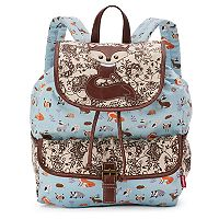 Unionbay Fox Applique Drawstring Backpack