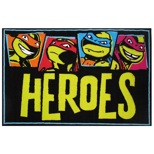 Fun Rugs Teenage Mutant Ninja Turtles ''Heroes'' Rug