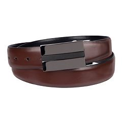 Men's Apt. 9® Reversible Feather-Edge Plaque-Buckle Belt
