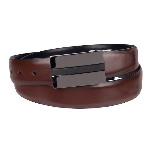 Men's Apt. 9® Reversible Feather-Edge Plaque-Buckle Belt