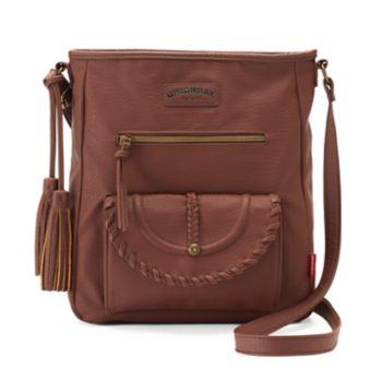 Unionbay Whipstitch Trim Flap Crossbody Bag