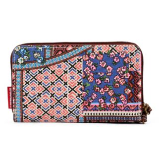 Unionbay Mixed Prints Patchwork Zip-Around Wristlet