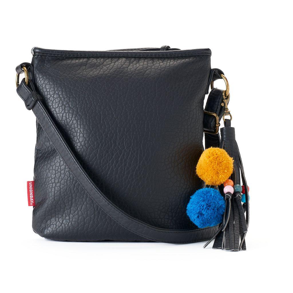 Unionbay Pom-Pom Tassel Crossbody Bag