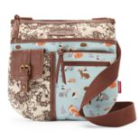 Unionbay Woodland Creatures Patchwork Messenger Bag