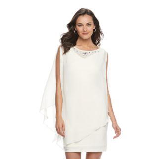 Women's Expo Cold-Shoulder Popover Shift Dress