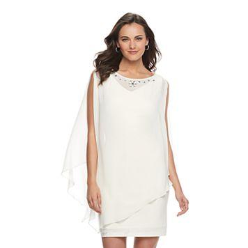 Women's Expo Cold-Shoulder Popover Shift Dress