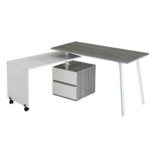 Techni Mobili Rolling Side Table Modern Desk