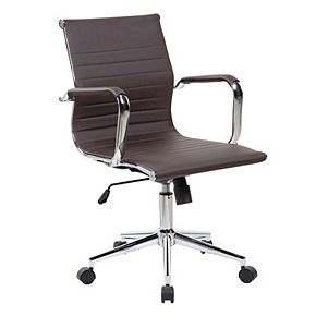 Techni Mobili Modern Faux-Leather Executive Desk Chair