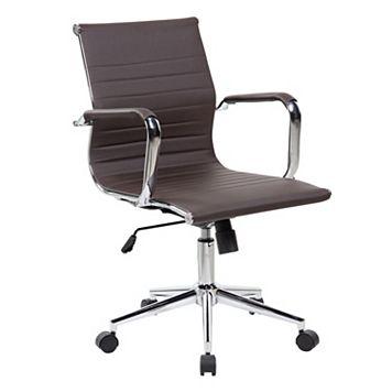 Techni Mobili Modern Faux-Leather Executive Desk Chair