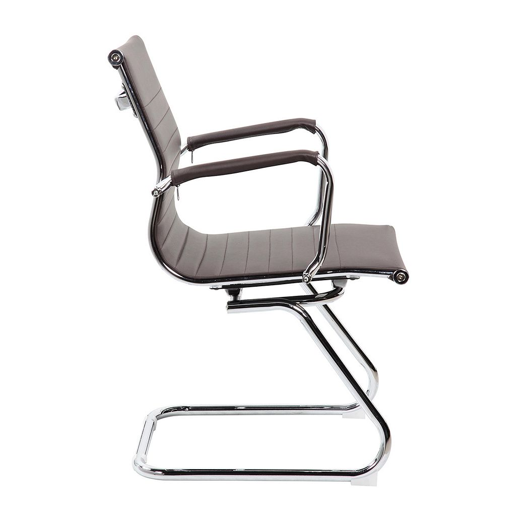 Techni Mobili Modern Faux-Leather Office Visitor Chair