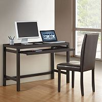 Techni Mobili Desk & Faux-Leather Chair 2 pc Set