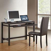 Techni Mobili Desk & Faux-Leather Chair 2 pc Set