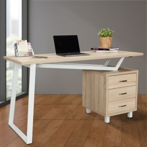 Techni Mobili Modern 3-Drawer Desk