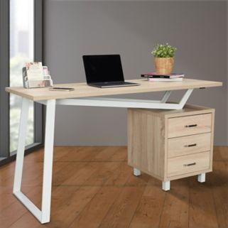 Techni Mobili Modern 3-Drawer Desk