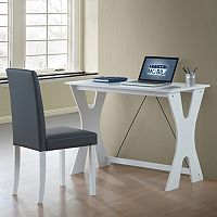 Techni Mobili Modern White Desk & Chair 2 pc Set