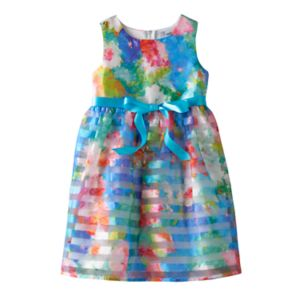 Girls 4-6x Emerald Sundae Organza Burnout Floral Dress