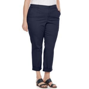 Plus Size Gloria Vanderbilt Rowan Roll-Up Capris