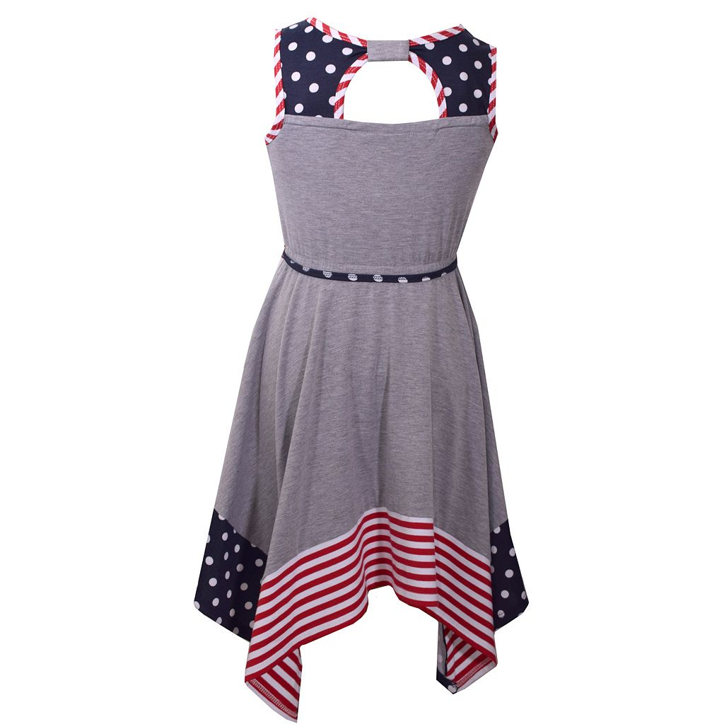 Girls 4-6x Bonnie Jean Americana Knit Sundress
