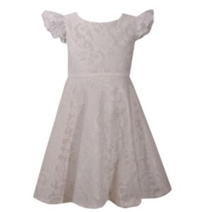 Girls 4-6x Bonnie Jean Lace Heart Back Dress