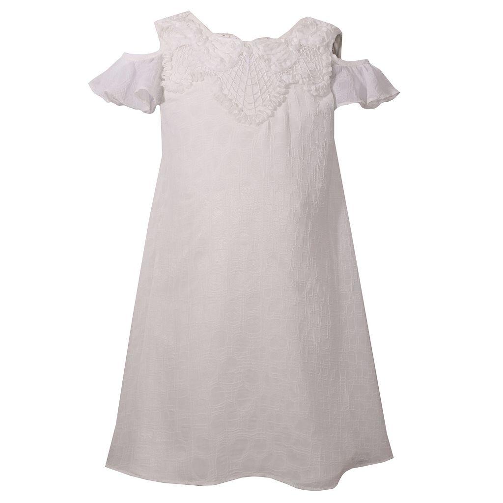 Girls 4-6x Bonnie Jean Cold Shoulder Special Occasion Dress