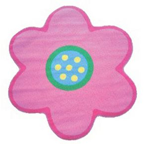 Fun Rugs Fun Time Shape Light Pink Poppy Rug - 3'3'' x 3'3''