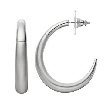 Dana Buchman Polished & Matte Hoop Earrings