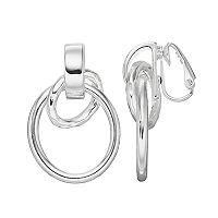 Dana Buchman Interlocked Clip On Hoop Earrings